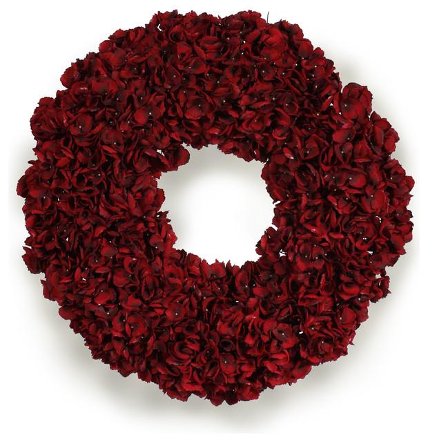 Hydrangea Holiday Wreath