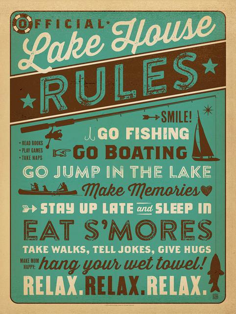 Lake Amp Lodge Lake House Rules Gallery Print Rustic