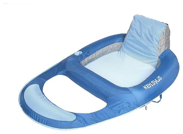 Chaise Lounger Floating Chair With Fabric Covered Inflation, Patented Jet Valves