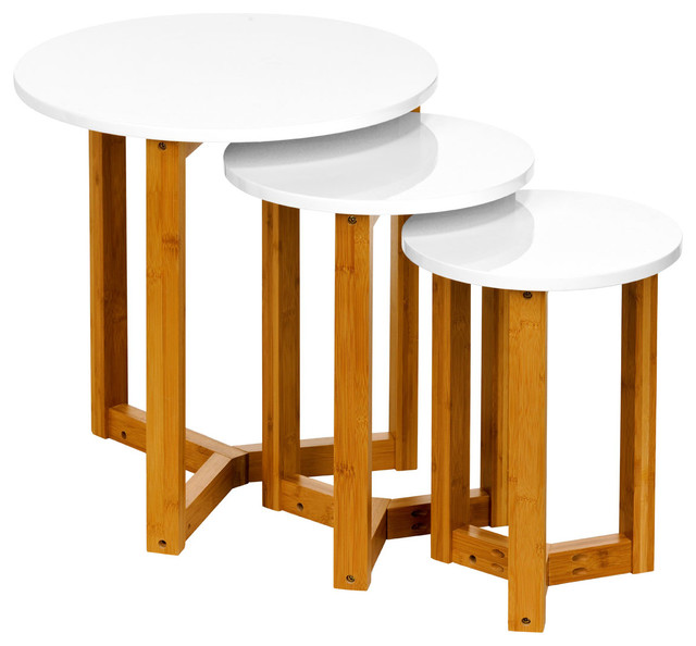 Nesting Tables Set Of 3 Contemporary Side Tables And