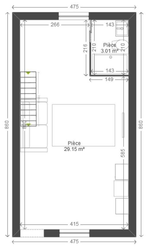 Aménagement appartement et mezzanine