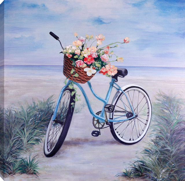 "Bicycle  Acrylic Painting On Canvas, 36""x36""."