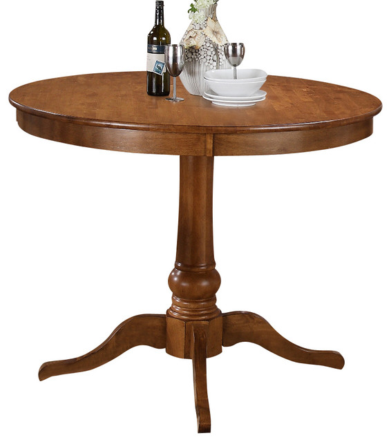 Steve silver candice round counter table in oak for Traditional dining table uk