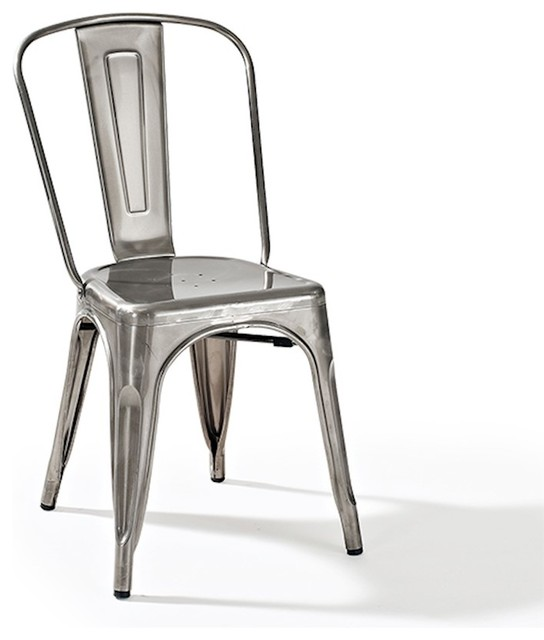 Crosley Amelia Metal Cafe Chair, Galvanized   Industrial   Armchairs And  Accent Chairs   By ShopFreely