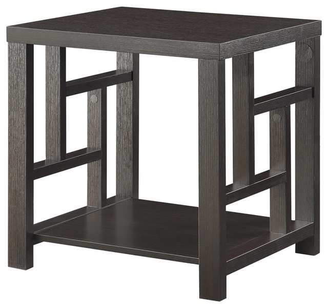 Coaster End Table, Cappuccino Transitional Side Tables And End Tables