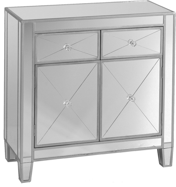 Exceptionnel Mirage Mirrored Cabinet, Mirror With Metallic Silver Trim