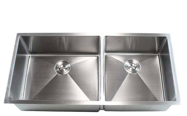 "Ariel Bath 42"" Stainless Steel Undermount Double Bowl ..."
