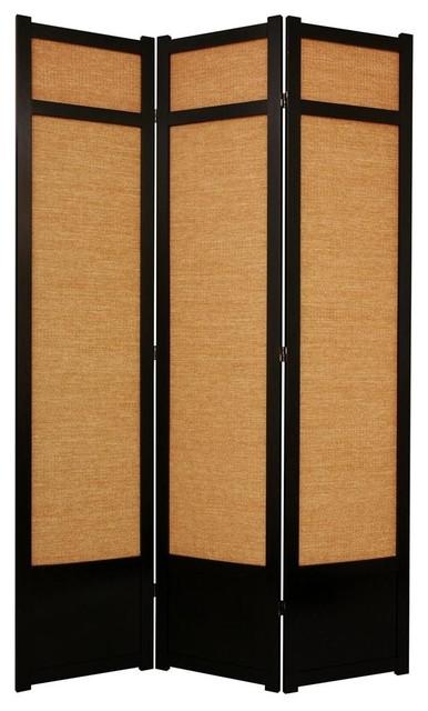 Ft tall jute shoji screen w kick plate panels