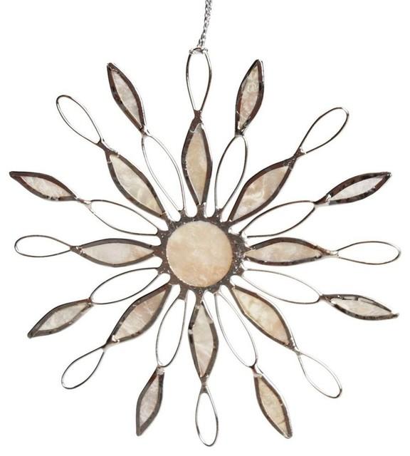 Sun Ray Snowflake Ornament