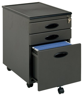 Shop Houzz | Studio RTA Studio RTA 3-Drawer Mobile Metal File Cabinet - Filing Cabinets