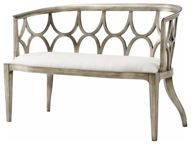 Modern Silver Gilt Bench.