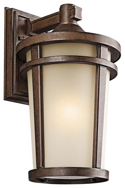Transitional Outdoor Wall Lights : Kichler 1-Light Brown Stone Wall Lantern - Transitional - Outdoor Wall Lights And Sconces - by ...