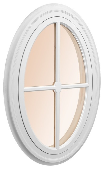 """Oval Accent Window With Poplar Interior Casing + 2 1/4""""."""