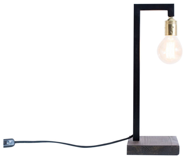 Tallinn Iron and Wenge Wood Table Lamp