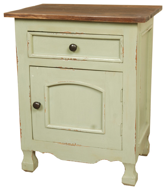 Sunset Trading Cottage Two Tone Storage Table - Farmhouse - Accent Chests And Cabinets - by ...