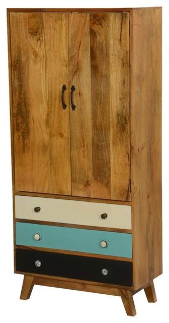 Sierra Solid Wood Tall Storage Cabinet