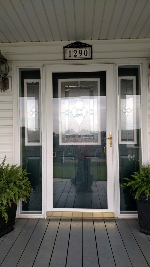 Beautiful What To Do With Front Door Side Panel Storms And Door Color