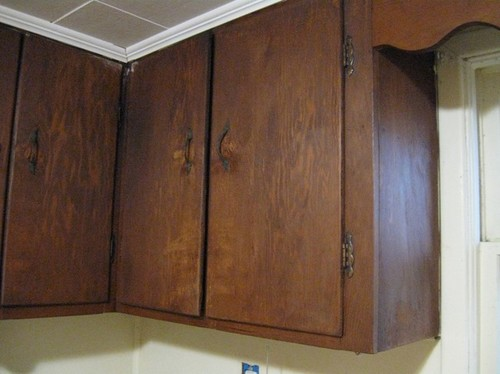 Help ugly plywood cabinets for Plywood cupboard