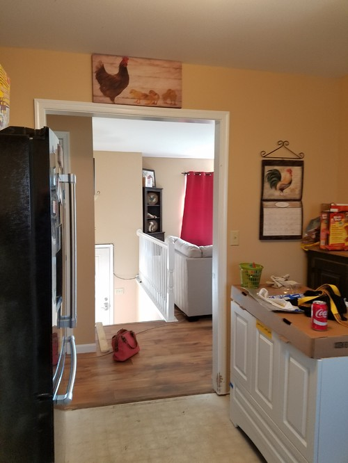 Advice on split entry kitchen layout for 10x11 room layout