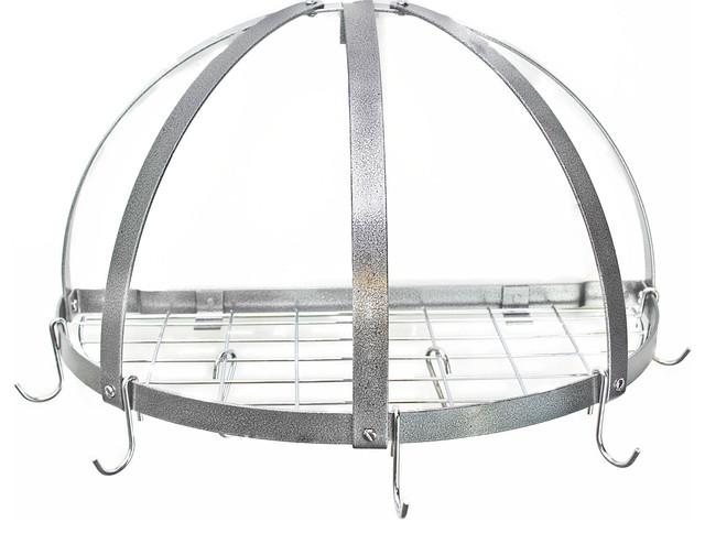 Half Dome Pot Rack With Grid Contemporary Pot Racks