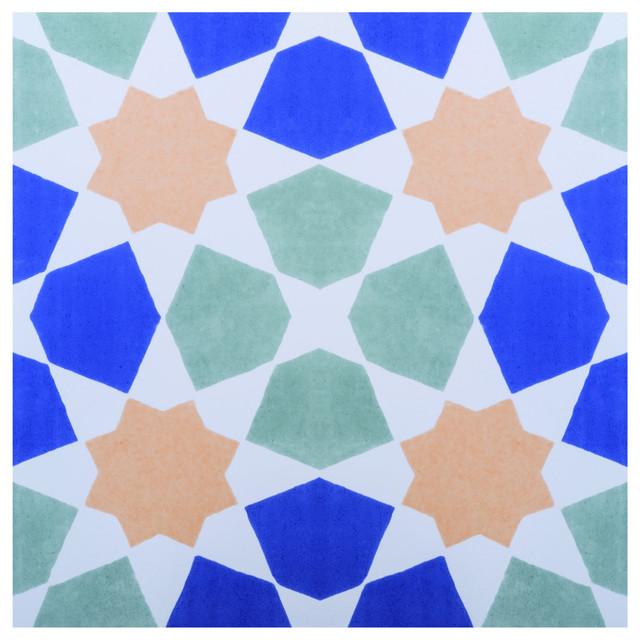 Omar Floor Tiles, Multicolour, Set of 5 m²