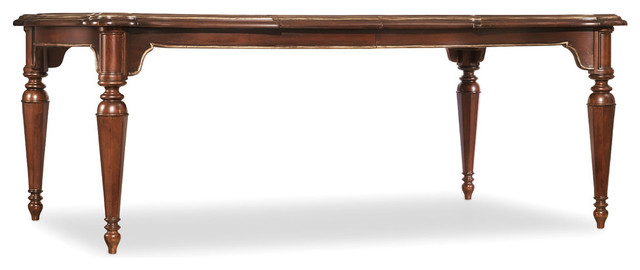 grand palais rectangle leg dining table with 2 20in leaf traditional