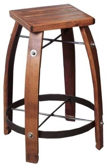 2 Day Designs 24 Quot Stave Stool With Wood Top Amp Reviews
