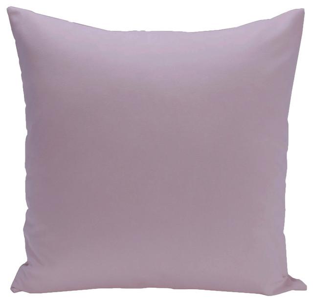 """Solid Color Decorative Pillow, Lilac Purple, 16""""x16""""."""