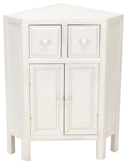 Suchow Corner Cabinet, White - Traditional - China Cabinets And Hutches - by Wayborn Home ...