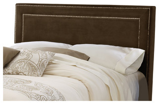 Amber Fabric Headboard, Rails Not Included, King, Chocolate