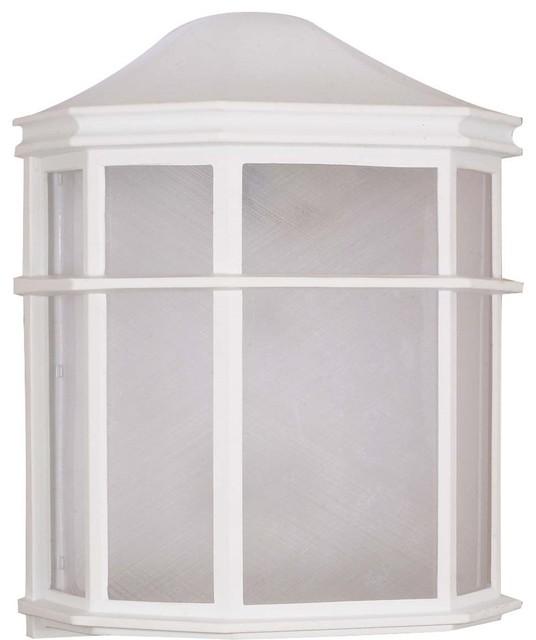 "Nuvo Lighting 1-Light Cfl 10"" Cage Lantern Wall Fixture"