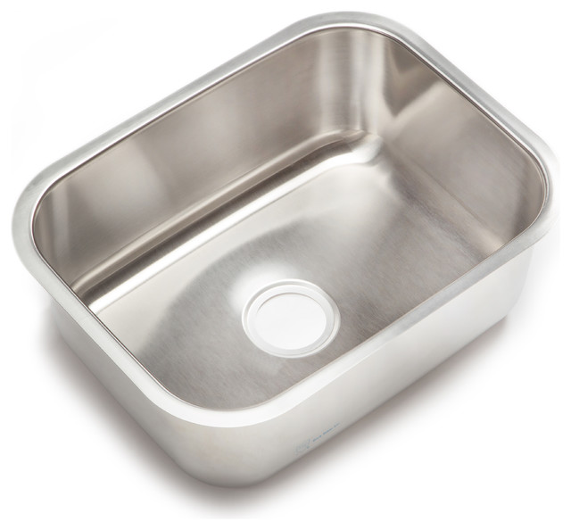 attractive Clark Kitchen Sinks Stainless Steel #3: Clark Stainless Steel Large Single-Bowl Undermount Kitchen Sink traditional-kitchen-sinks