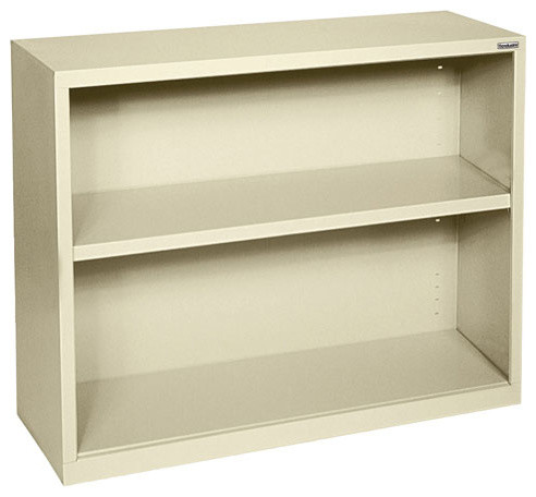 Bookcase - 2 Shelves, Beige, 13x34 by OfficeSource