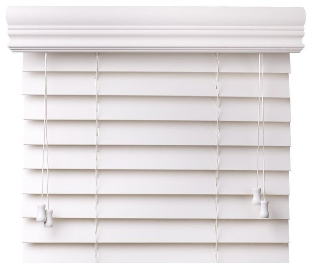 2 Quot Faux Wood Blinds Contemporary Venetian Blinds By