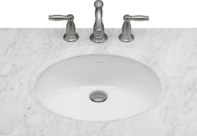 Ronbow oval ceramic undermount bathroom sink contemporary bathroom sinks by ronbow corp for Contemporary undermount bathroom sinks