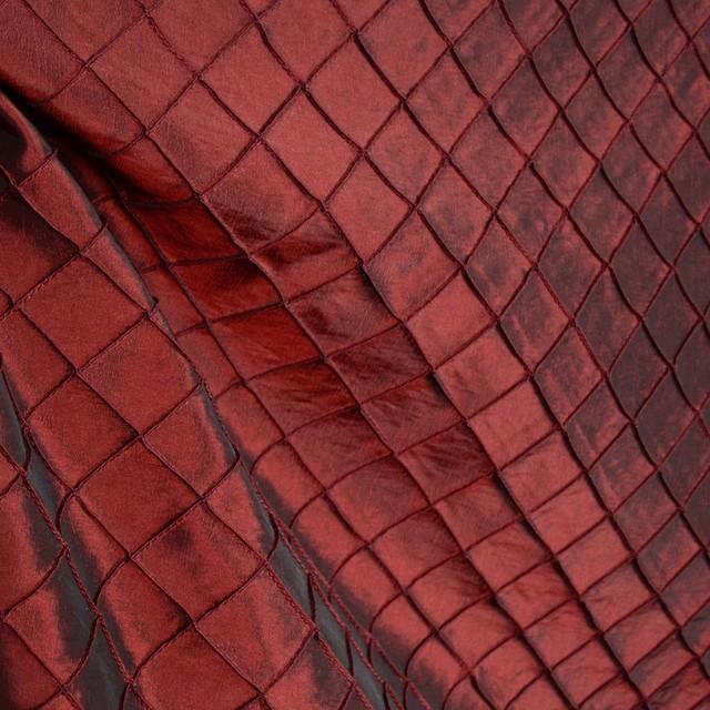 Hampstead Merlot Red Pintuck Polyester Diamond Fabric