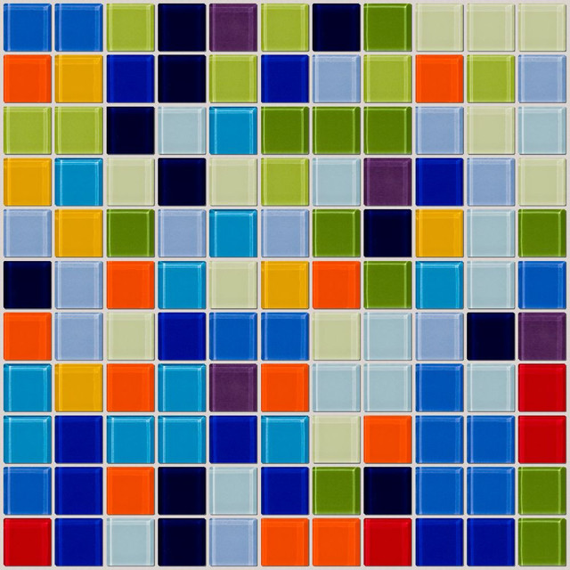 12 X12 Old Florida Tile Full Sheet Contemporary Mosaic