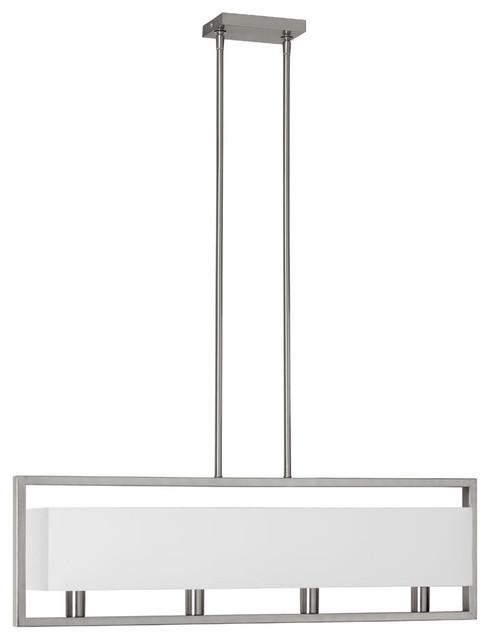 Larkin 4-Light Pendant, Satin Chrome.
