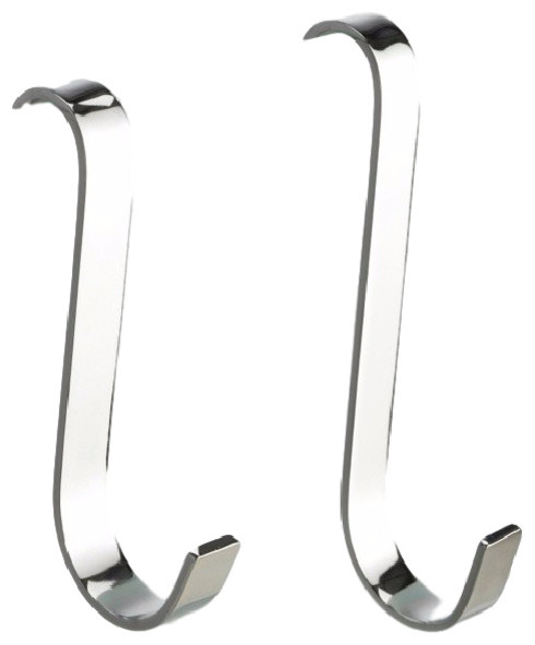 Chrome Over The Shower Door Hooks Set Of 2 Contemporary