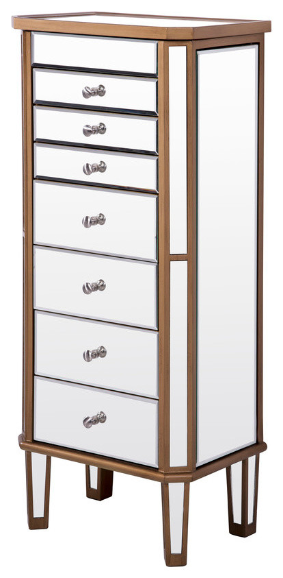 7 Drawer Jewelry Armoire - Transitional - Jewelry Armoires ...