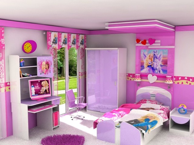 barbie kids room Modern New York