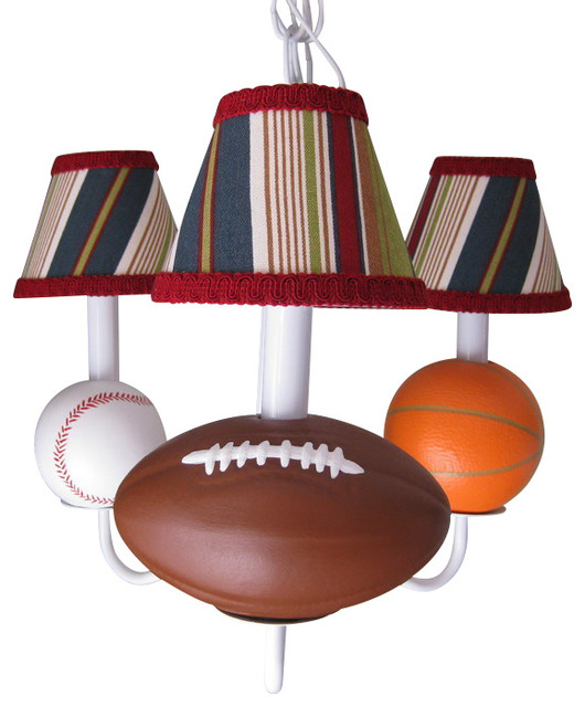 All Star Sports Chandelier - Contemporary - Kids Ceiling Lighting ...
