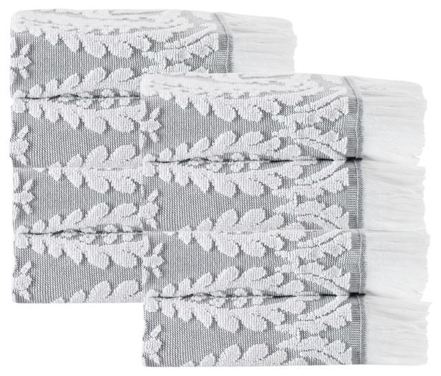 Laina 8-Piece Turkish Cotton Wash Cloth Set, Silver