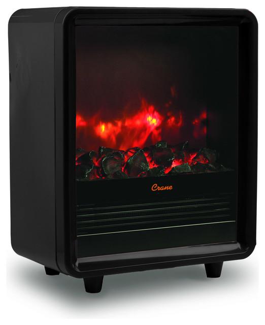 Monoco Fireplace Heater, Black.