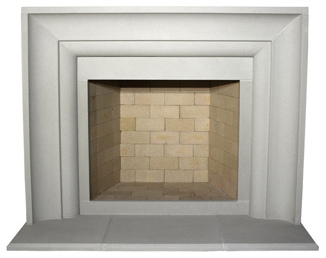 Avant Cast Stone Fireplace Mantel, Pearl