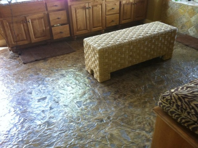 stamped concrete floor indoors or out