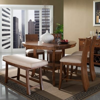 Somerton Dwelling Milan 6 Piece Triangle Counter Height Set