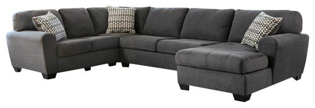 Peachy Benchcraft Sorenton 3 Piece Laf Sofa Sectional In Slate Fabric Slate Uwap Interior Chair Design Uwaporg