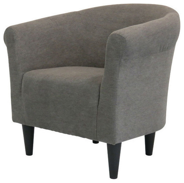 Graphite Grey Modern Classic Upholstered Accent Arm Chair