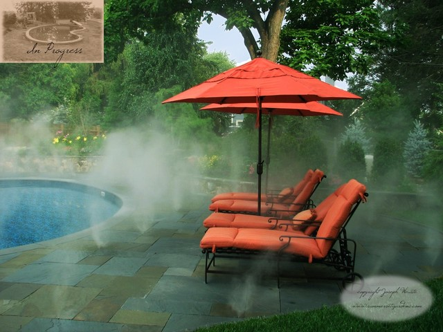 Pool Patio Fog Mist System Traditional New York By